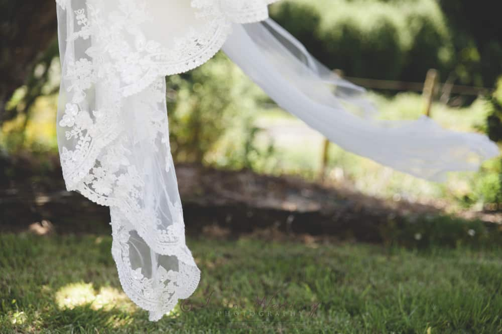 Palmerston North wedding photographer Lin with this veil detailed image