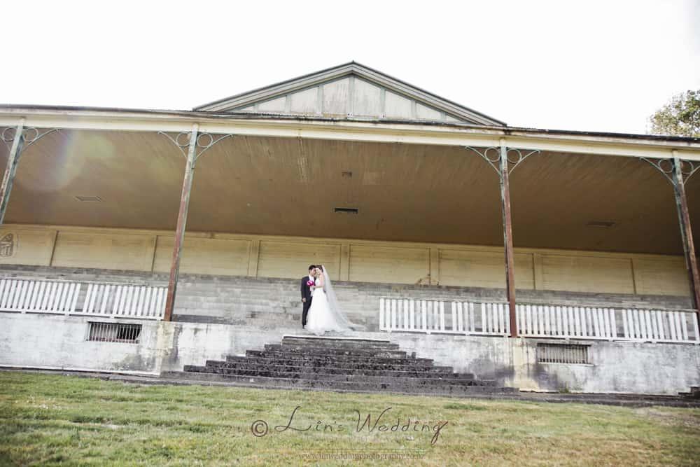 Bride and groom portrait at the Racecourse a Manawatu wedding venue